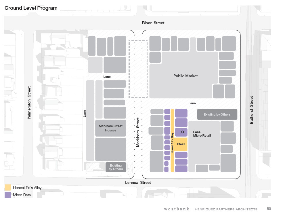 Honest Eds Alley Layout. Courtesy Westbank & Henriquez Partners Architects